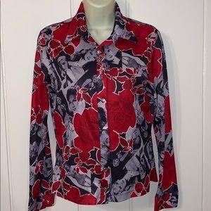 Vtg  Female Old Hollywood stars polyester shirt
